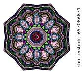 oriental stylized ornament...   Shutterstock .eps vector #697086871