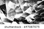 multifaceted geometric... | Shutterstock . vector #697087075