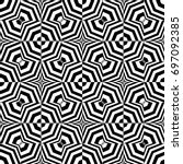 seamless pattern with black... | Shutterstock .eps vector #697092385