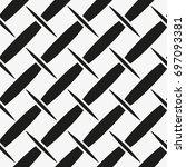 vector seamless pattern. modern ... | Shutterstock .eps vector #697093381