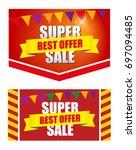 design banner template... | Shutterstock . vector #697094485