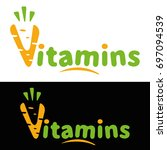 the logo or icon vitamins... | Shutterstock . vector #697094539