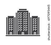 multi storey building glyph... | Shutterstock .eps vector #697095445