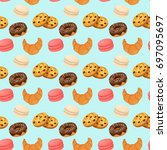 love sweets seamless pattern.  | Shutterstock .eps vector #697095697