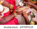 south indian wedding rituals | Shutterstock . vector #697099135