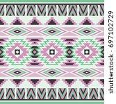 vector seamless ethnic pattern. ... | Shutterstock .eps vector #697102729