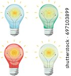 creative colorful lamp.... | Shutterstock .eps vector #697103899