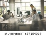 business people working... | Shutterstock . vector #697104019