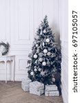 christmas and new year... | Shutterstock . vector #697105057