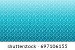 mermaid scale on trendy... | Shutterstock .eps vector #697106155