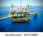 rigs offshore oil refinery   Shutterstock . vector #69710884