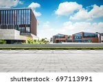 large modern office building   Shutterstock . vector #697113991