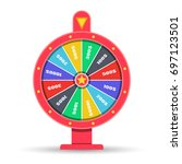 wheel of fortune. vector... | Shutterstock .eps vector #697123501