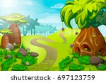 cartoon jungle landscape....