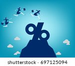 business team jumping into... | Shutterstock .eps vector #697125094