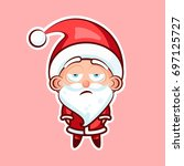 sticker emoji emoticon  emotion ... | Shutterstock .eps vector #697125727