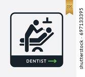 dentist icon. medicine... | Shutterstock .eps vector #697133395