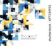 modern square geometric pattern ... | Shutterstock .eps vector #697134931