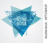 blue triangle retro shape.... | Shutterstock .eps vector #697136419