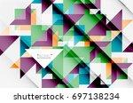 triangle pattern design... | Shutterstock . vector #697138234