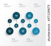 music outline icons set.... | Shutterstock .eps vector #697139875