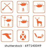 set of hunting icons. vector... | Shutterstock .eps vector #697140049