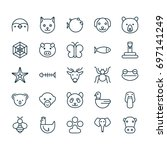 nature icons set. collection of ... | Shutterstock .eps vector #697141249
