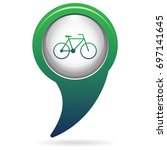 bicycle   bike icon vector... | Shutterstock .eps vector #697141645