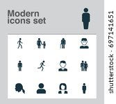 human icons set. collection of... | Shutterstock .eps vector #697141651