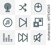music outline icons set.... | Shutterstock .eps vector #697142365