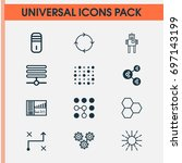 machine icons set. collection... | Shutterstock .eps vector #697143199