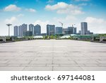 large modern office building | Shutterstock . vector #697144081