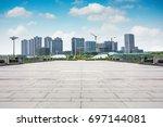 large modern office building | Shutterstock . vector #697144081