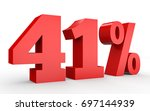 forty one percent off. discount ... | Shutterstock . vector #697144939