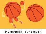 basketball player vector... | Shutterstock .eps vector #697145959