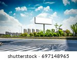 billboard blank for outdoor... | Shutterstock . vector #697148965