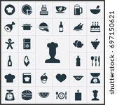 vector illustration set of... | Shutterstock .eps vector #697150621