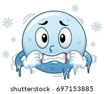 illustration of a blue smiley... | Shutterstock .eps vector #697153885