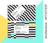 trendy abstract business card...   Shutterstock .eps vector #697157329