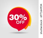 30  off sale discount banner.... | Shutterstock .eps vector #697164934