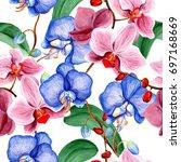wildflower orchid flower in a... | Shutterstock . vector #697168669