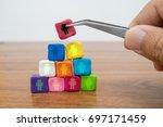 business team building   human... | Shutterstock . vector #697171459