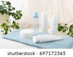 skin care basic cosmetics | Shutterstock . vector #697172365