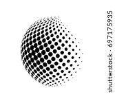 abstract globe dotted sphere ... | Shutterstock .eps vector #697175935