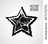 stamps collection. grunge stars ... | Shutterstock .eps vector #697176751