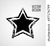 stamps collection. grunge stars ... | Shutterstock .eps vector #697176799
