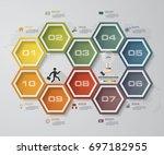 simple editable 10 steps... | Shutterstock .eps vector #697182955