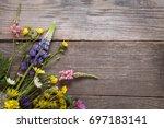 Wild Flowers On Old Grunge...