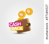 vector cash back icon with... | Shutterstock .eps vector #697184527