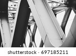 Abstract metal construction - stock photo